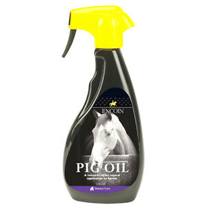 Lincoln Pig Oil Spray 500ml - Horse Pony Grooming - Ready to Use