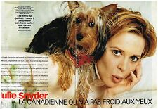 Coupure de presse Clipping 2000 (4 pages) Julie Snyder