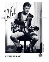 CHRIS ISAAK SIGNED AUTOGRAPH 8X10 RPT PROMO PHOTO GREAT PERFORMER ISAAC