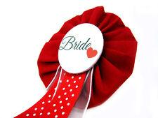 Orden Bride to be rot JGA Herz Deko Accessoire Anstecker Button Hochzeit Braut