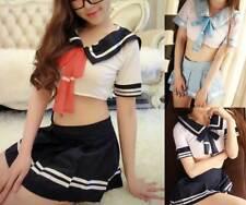 Adult Sexy Anime Japan School Girl Uniform Cosplay Fancy Dress Halloween Costume
