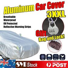 Breathable Aluminum Auto Car Cover XXL Waterproof Rain UV Dust Resistant Protect