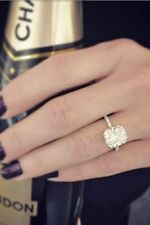 Prong Style 3.25 Carat Cushion Diamond Engagement & Wedding Ring 14K White Gold