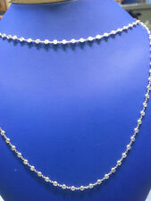 15 carat Round Diamond By The Yard Platinum Necklace, 31 inch, F-G, SI1