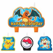 Pokemon Pikachu and Friends Birthday Party Candle Set 4 pc Cake Topper Charizod