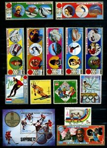 Equatorial Guinea 1970's, Winter Olympics, Mini Sheet  CTO