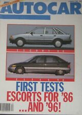 Autocar magazine 19/3/1986  featuring Ford Escort road test, Clan Clover, Audi