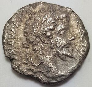 Ancient Roman Empire Silver Coin Septimus Severus 193-211 A.D. Denarius