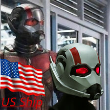 2018 New Ant Man Helmet Cosplay Ant-Man and The Wasp Superhero LED  Mask Latex