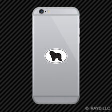 Polish Lowland Sheepdog Euro Oval Cell Phone Sticker Mobile Die Cut