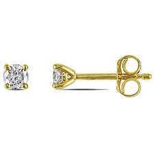 14k Yellow Gold 1/4 ct TDW Diamond Solitaire Classic Martini-Style Stud Earrings