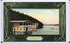 VINTAGE SCENIC POSTCARD-THE BOAT HOUSE BY MAURICE