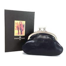 Gianni Conti Purse - Leather Clip Top Change Purse - Jeans Blue - Style: 9408092