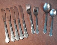 9 pieces of Reed & Barton Select Pompei #476 pattern, stainless, GUC