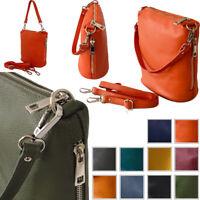 Small Handbag Genuine Leather Made Italy Cross Body Bag Over Shoulder Vera Pelle