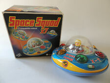 OLD TOY - FLYING DISC - GLASSLITE SPACE SQUAD X-7 - BRAZIL - W ORIGINAL BOX