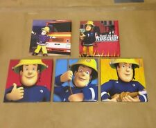 5 FIREMAN SAM  Canvas Pictures 6 By 6 Inch Each One This Set.