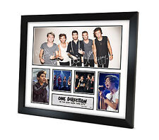 One Direction (1D) - Signed Memorabilia - Limited Edition Certificate - Framed B