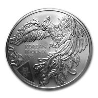 2020 South Korea Bong-Hwang Phoenix 1 oz .999 Silver Limited BU Coin - IN STOCK!