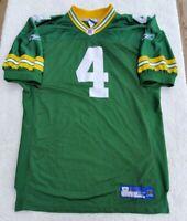 100% Authentic Reebok Brett Favre Green Bay Packers Jersey SZ 52 VTG NFL L-XL
