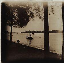 Asie Indo Chine Photo Plaque de verre Stereo L11 Vintage ca 1910