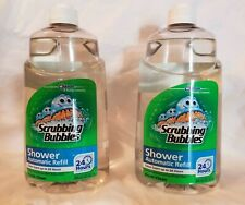 Scrubbing Bubbles Automatic Shower Cleaner Refill 34 OZ Lot of 2 New