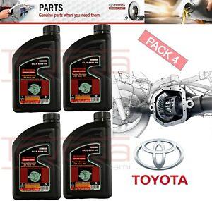 SET 4 GENUINE TOYOTA DIFFERENTIAL GEAR Oil GL-5  85W-90 (1qt.)