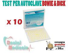 TEST PER AUTOCLAVE BOWIE & DICK X 10, STERILIZZAZIONE, MEDICO, DENTISTA