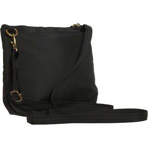 NWT Women's Black Travelon Anti-Theft Crossbody Bag with Detachable Zip Pouch