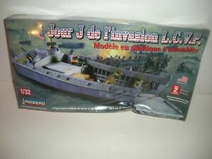 Lindberg #70866 1:32 Scale D-Day Invasion L.C.V.P. Plastic Model Kit. New Sealed