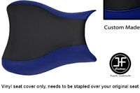 BLACK R BLUE VINYL CUSTOM FOR SUZUKI HAYABUSA GSX 1300 CC FRONT SEAT COVER 08-12