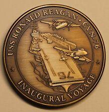 USS Ronald Reagan (CVN-76) Inaugural Voyage May-Jul 2004 Navy Challenge Coin