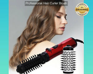 2 In 1 Rotating Hot Curling Iron Roll Styling Brush 2 Speed & 3 Heat Setting