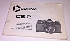 Instruction booklet for the Cosina CS-2 35mm SLR film camera, late 1970s