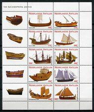 Niederländische Antillen 2010 Hist. Segelschiffe Ships Navi Bateaux 1848-57 MNH
