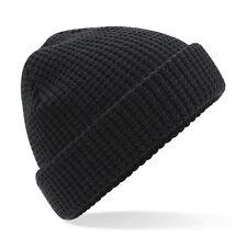 BEECHFIELD Clásico Waffle Knit Beanie BC422-Sombrero De Otoño Invierno