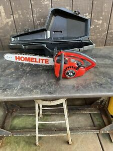 Vintage Homelite Textron XL Automatic Oiling Chainsaw, Starts Runs great