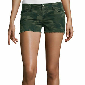 Arizona Camo Print Shorts Juniors Size 11 New Msrp $34.00