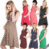 Maternity Clothing Pregnancy Polka Dot V Neck Dress Stretch Pleated Skirt Summer