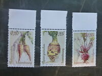 2015 LUXEMBOURG VEGETABLES OF YESTERYEAR SET 3 MINT STAMPS MNH