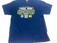 Michigan Wolverines 2018 Final Four Basketball NCAA Size XL T-Shirt Blue