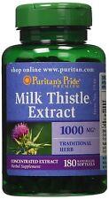 180 softgels 1,000mg PURITAN'S PRIDE Milk Thistle / Silymarin, USA Made