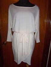 Victoria's Secret Moda International Ivory Blouson Tulip Matte Jersey Dress S