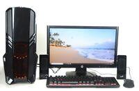 RGB  Gaming PC SET Quad i5 SSD HDD DVD 4 GB GDDR5 GTX 1650 Windows 10 Wifi