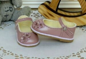 Ruby Red Fashion Friends Doll shoes Handmade Natural leather