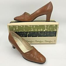 Vintage 1950s Naturalizer Shoes Brown Heels in Box size 8Aa Pumps Usa made B4
