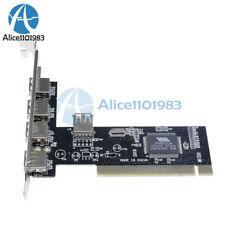 New High Speed 480Mbps 5 Port USB 2.0 PCI Hub Card Controller Adaptor Module L70