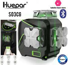 niveau laser huepar S03CG bluetooth 3d vert batterie inclinomètre écran LCD new