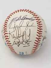 1990 KEN GRIFFEY JR Seattle Mariners Team Signed Baseball HOF Autographed Auto