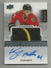 16/17 UD Premier Tyler Motte Rookie Auto Patch RC #d 076/299 BLACKHAWKS